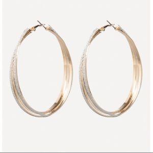 bebe Jewelry - Bebe golden glitter hoop